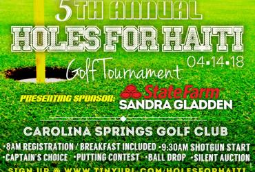 5th Annual Holes for Haiti Golf Tournament